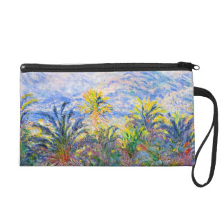 Palm Trees at Bordighera Claude Monet Wristlet Purse