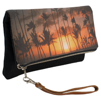 Palm Trees at Sunset Clutch