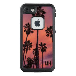 Palm Trees at Sunset custom monogram cases