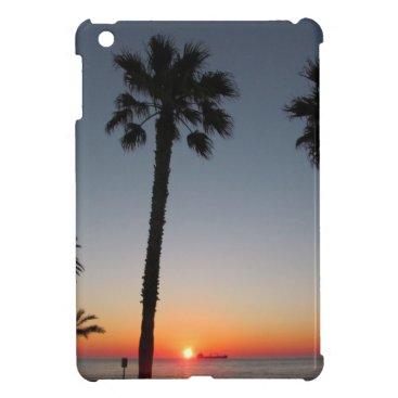 Beach Themed Palm trees at sunset iPad mini covers