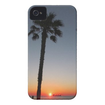 Beach Themed Palm trees at sunset iPhone 4 Case-Mate case