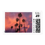 Palm Trees at Sunset postage stamps