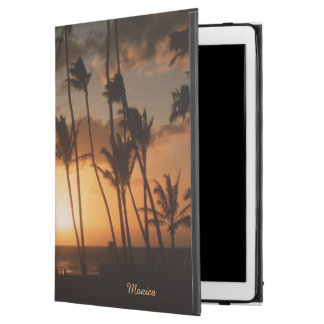 """Palm Trees at Sunset with (or without) your Name iPad Pro 12.9"""" Case"""