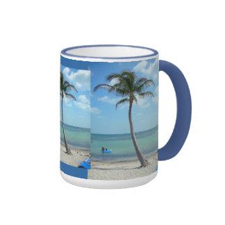 Palm Trees at the Beach Ringer Mug