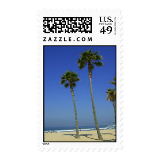 Palm trees at Venice Beach stamp