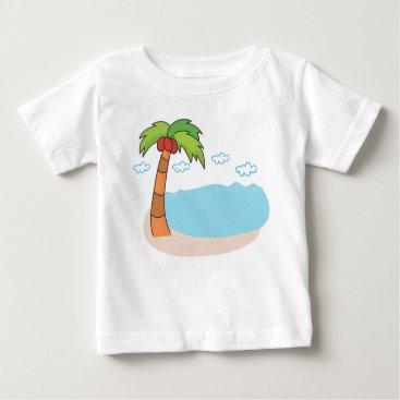 Beach Themed Palm Trees Baby T-Shirt