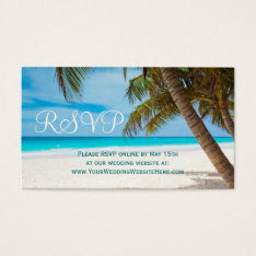 Palm Trees Beach Destination Wedding Rsvp Cards at Zazzle