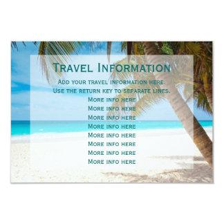 "Palm Trees Beach Destination Wedding Travel Cards 3.5"" X 5"" Invitation Card"