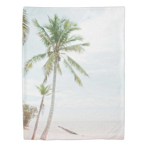 Palm Trees Beach Dream #2 #tropical Duvet Cover