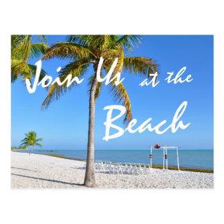 Palm Trees Beach Summer Save the Date Postcard