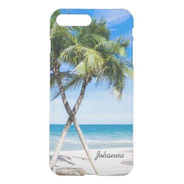 Beach Themed Palm Trees Beach Tropical iPhone 7 Clear Case