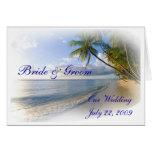Palm Trees & Beach Wedding Invitation Greeting Card