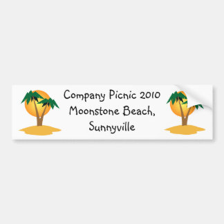 Palm Trees Bumper Sticker