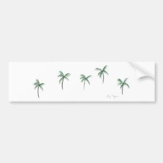 Palm Trees Bumper Sticker Car Bumper Sticker