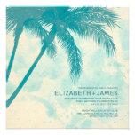 Palm Trees Burlap Wedding Invitations Personalized Invitation