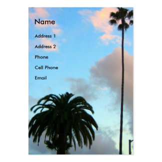 palm trees business cards
