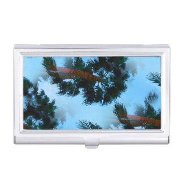Professional Business Palm trees business card case