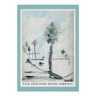 Palm Trees by Helene Poster