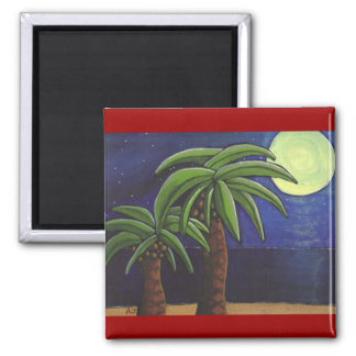 Palm Trees by the Sea - magnet