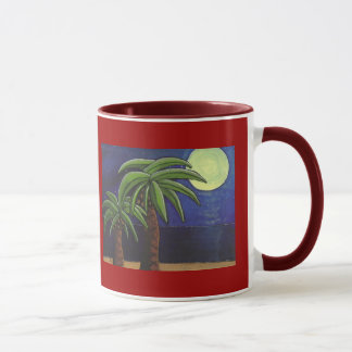 Palm Trees by the Sea - mug