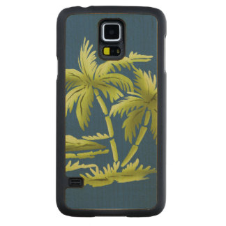 Palm Trees Carved Maple Galaxy S5 Slim Case