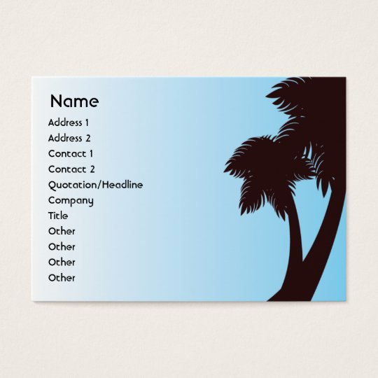 Palm Trees - Chubby Business Card