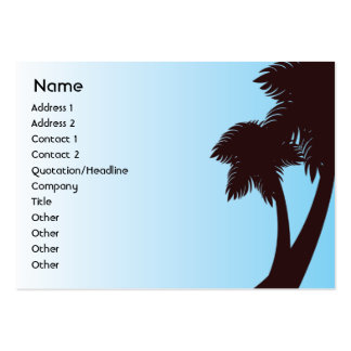 Palm Trees - Chubby Business Card Template