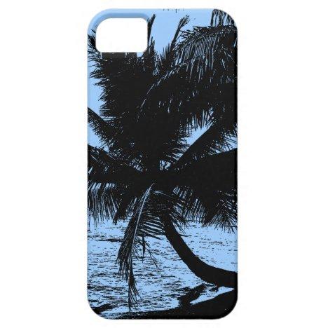 Palm trees Design - Blue iPhone SE/5/5s Case