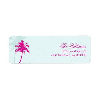 Palm Trees Destination Wedding Label