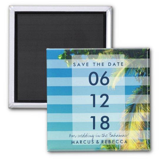 Palm Trees Destination Wedding Save Date Magnets