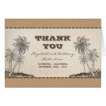 palm trees destination wedding thank you card