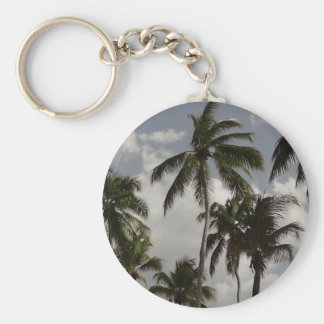 Palm Trees Dominican Keychain