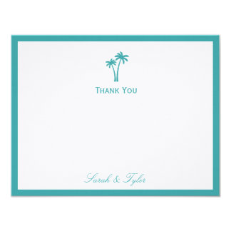 Palm Trees Flat Thank You Card Announcement