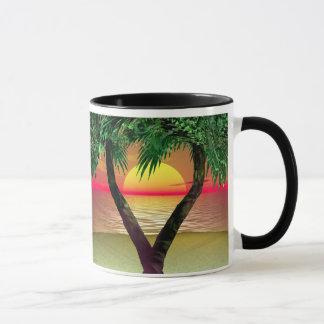 Palm Trees Framing a Sunset Mug