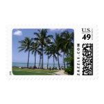 Palm Trees Galore at Waikiki Beach and Kuhio Beach Postage