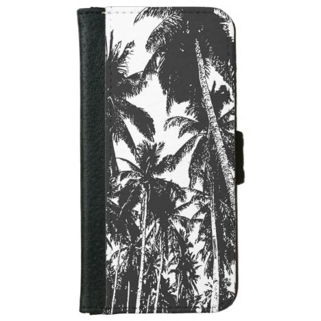 Palm Trees in a Posterised Design iPhone 6/6s Wallet Case