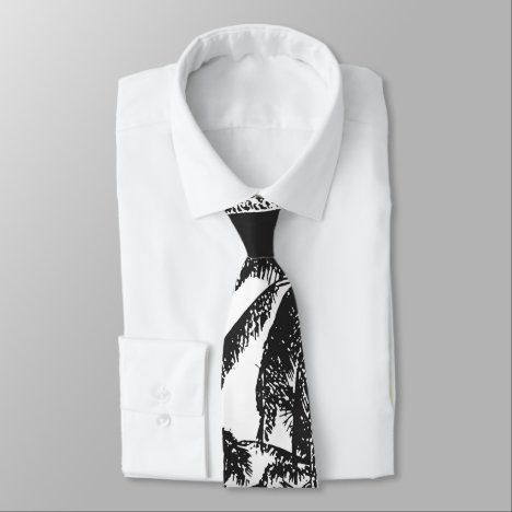 Palm Trees in a Posterised Design Neck Tie