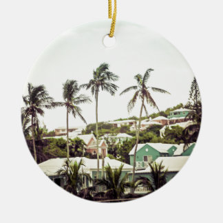 Palm Trees in Bermuda Ceramic Ornament