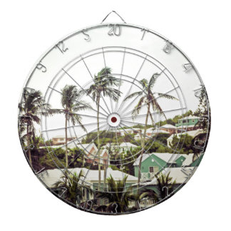 Palm Trees in Bermuda Dartboard With Darts