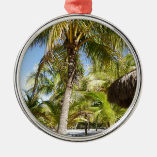 Palm Trees in Mexico Metal Ornament
