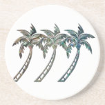 Palm Trees in Paua Shell Textures Coasters