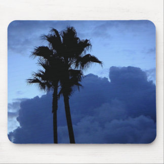 Palm Trees in the Blue Sky Mouse Pad