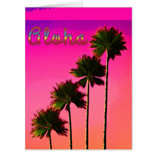 Palm Trees in the Sunset Card