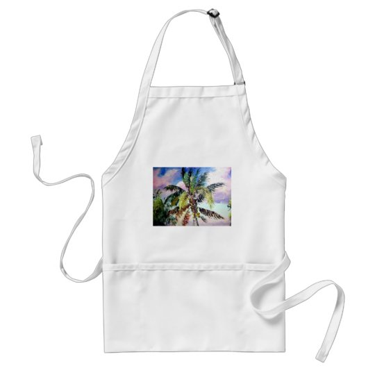 Palm Trees in the Wind Adult Apron
