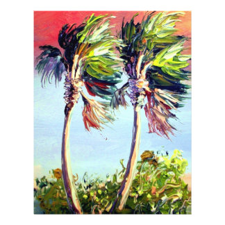 Palm Trees in the Wind Flyer