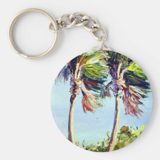 Palm Trees in the Wind Keychain