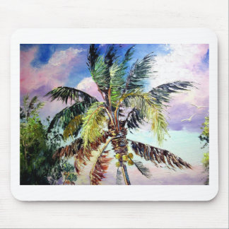 Palm Trees in the Wind Mouse Pad