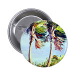 Palm Trees in the Wind Pinback Buttons