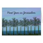 Palm Trees Jewish New Year Card,  ...