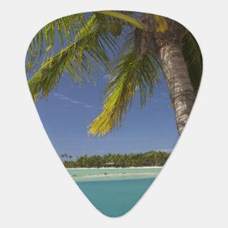 Palm trees & lagoon, Musket Cove Island Resort Guitar Pick